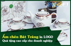 Ấm chén Bát Tràng in logo - Quà tặng cao cấp cho doanh nghiệp