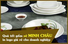 Quà tặng gốm sứ Minh Châu in logo giá rẻ cho doanh nghiệp