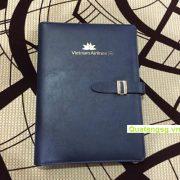 sổ bìa da còng quà tặng số 13
