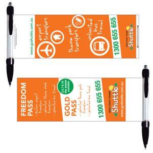 bút bi quảng cáo banner nhiều màu