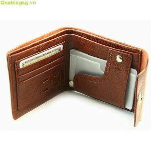 Bóp da quà tặng, mẫu bóp ví da quảng cáo giá rẻ