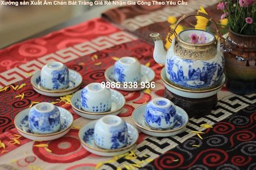 bộ ám trà in logo quà tặng cao cấp