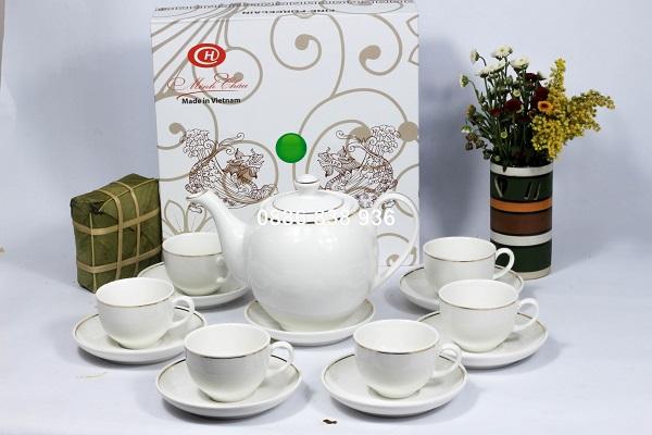 sản xuất cung cấp ấm trà trắng giá rẻ