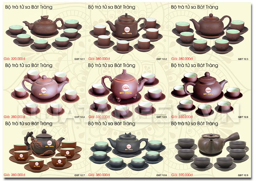 ấm trà bát tràng quà tết