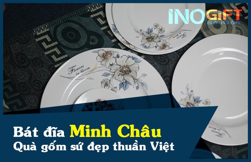 Bát đĩa Minh Châu - Món quà gốm sứ mang nét đẹp thuần Việt
