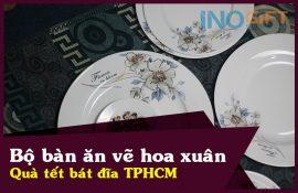 Bộ bàn ăn vẽ hoa xuân - Chọn mua quà tặng bát đĩa đẹp tại TPHCM