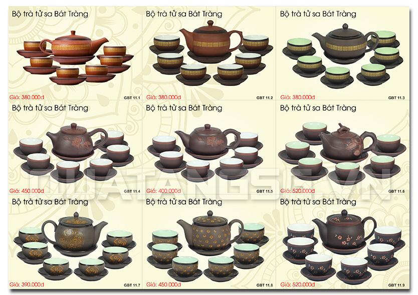Ám chén tử sa - ấm trà Bát Tràng làm quà tặng trang trọng