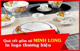 Quà tặng gốm sứ Minh Long in logo thương hiệu
