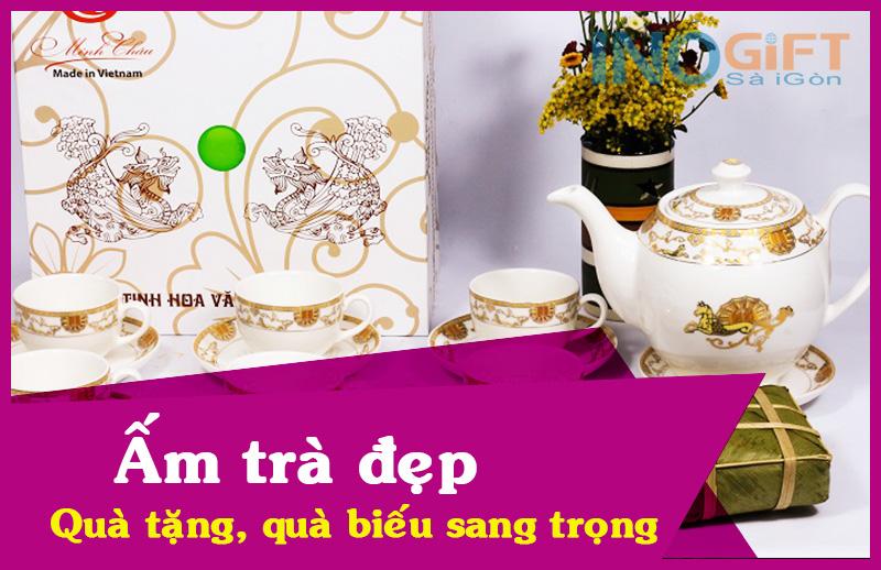 Ấm trà đẹp - phù hợp làm quà tặng, quà biếu sang trọng