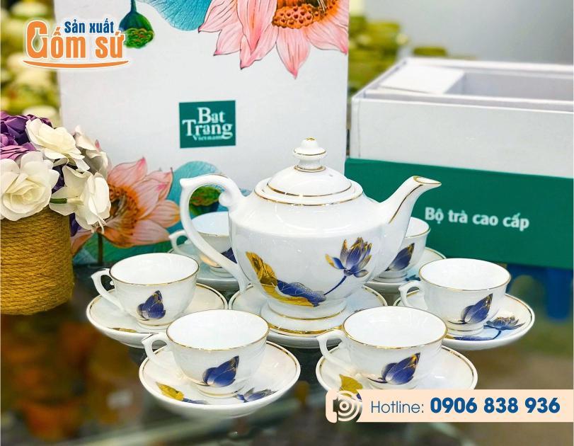 20 Bộ ấm chén - ấm trà quà tặng in logo giá rẻ tận xưởng