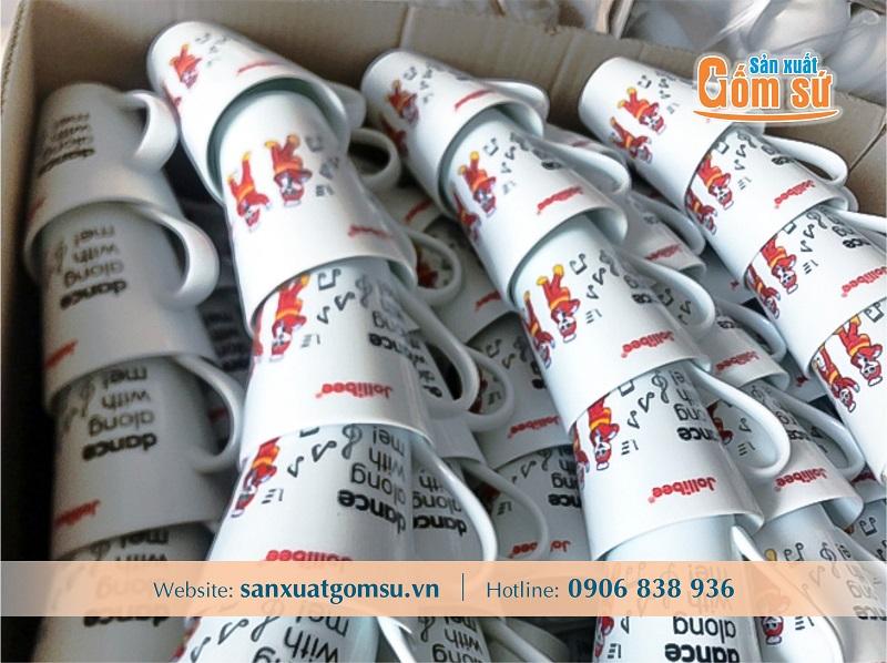 Xưởng sản xuất ly sứ, cung cấp ly sứ trắng, in ly sứ giá rẻ số lượng ít