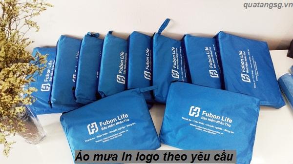 Áo mưa in logo theo yêu cầu - quà tặng khách hàng, công nhân viên mùa mưa