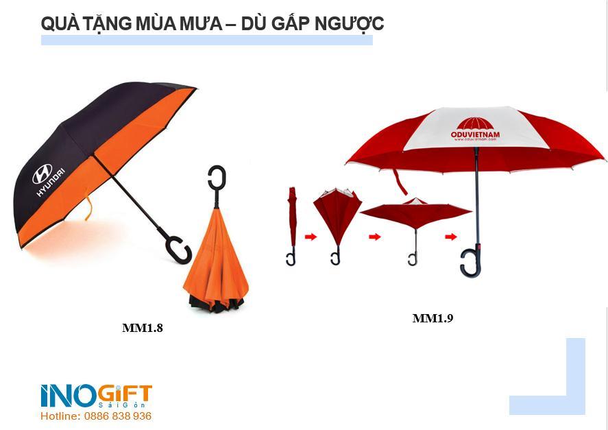 Ô dù in logo theo yêu cầu - quà tặng khách hàng, công nhân viên mùa mưa