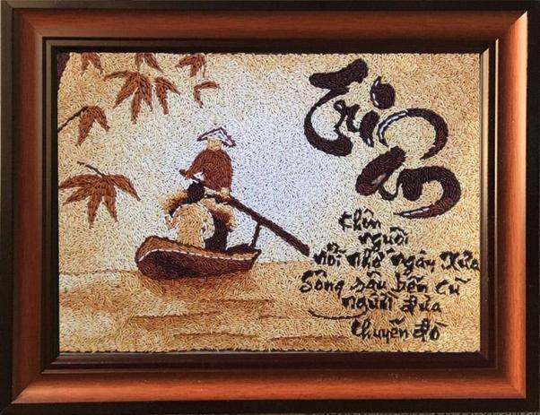 Tranh gạo - Quà tặng khuyến mãi quà tặng doanh nghiệp cuối năm