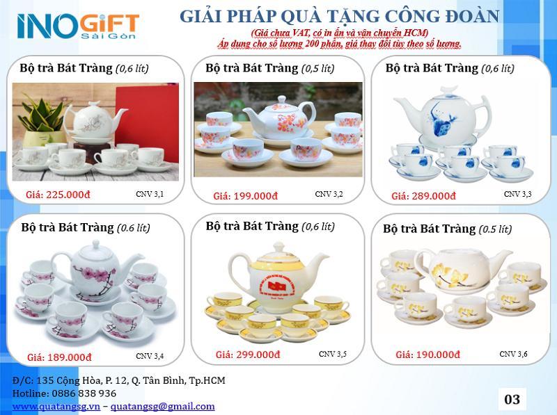 [ Bộ ấm chén trà làm quà tặng ] in logo theo yêu cầu, giao hàng nhanh tại tphcm
