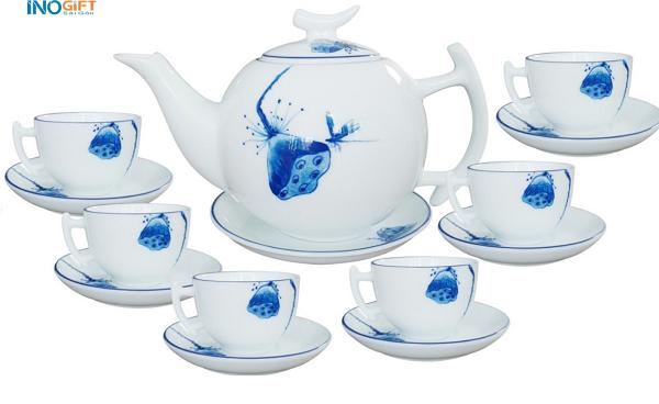 Bộ ấm trà Bát Tràng 05