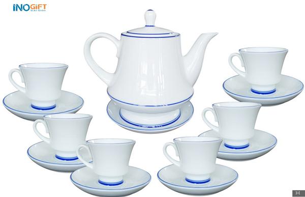 Bộ ấm trà Bát Tràng 06