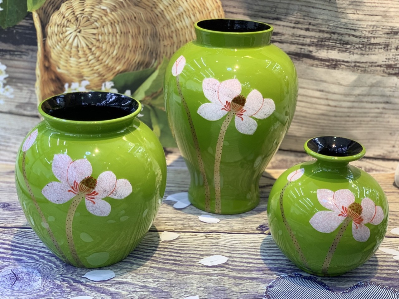 [Quà tặng ] Lọ hoa sứ sơn mài đẹp Bát Tràng cao cấp mua ở đâu tại tphcm ?