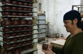 Ấm trà an thổ túc là tinh hoa của các nghệ nhân Bát Tràng