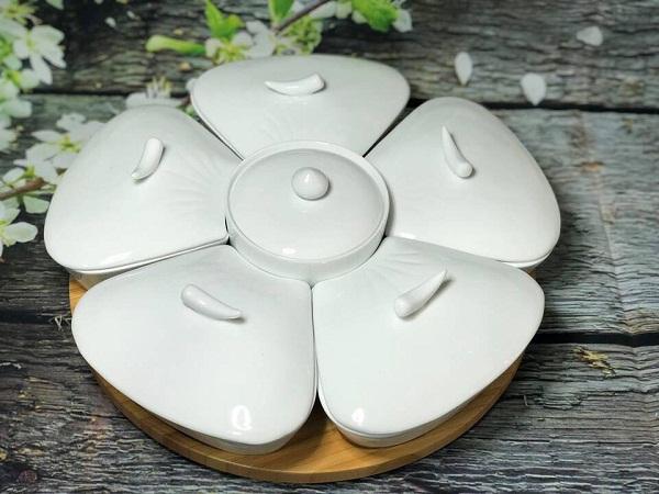Khay mứt gốm sứ đẹp – cao cấp mua ở đâu, giá bao nhiêu tiền tại tphcm ?