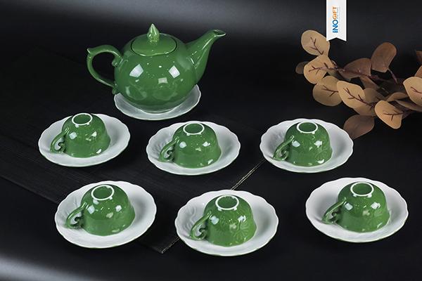 [ Quà tặng doanh nghiệp ] Bộ ấm chén - Bộ ấm trà Quà tặng in logo giá rẻ siêu đẹp 2021