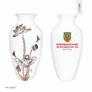 Bình hoa gốm sứ Bát Tràng - Quà tặng doanh nghiệp 30/4 - 1/5
