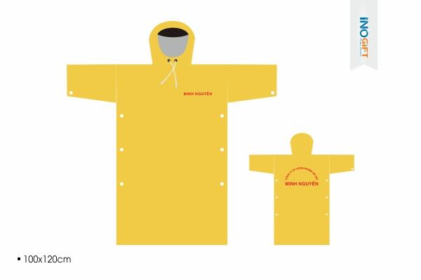 Dịch vụ in logo áo mưa cánh dơi giá rẻ làm quà tặng ngân hàng tại tphcm