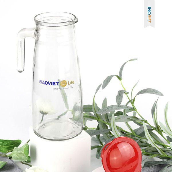 Công ty quà tặng cung cấp bình thuỷ tinh, chai thuỷ tinh quà tặng in logo theo yêu cầu tại tphcm