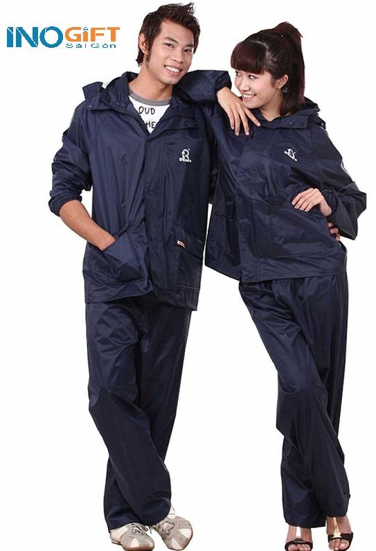 Áo mưa bộ in logo quảng cáo, quà tặng mùa mưa dành cho doanh nghiệp, công ty, ngân hàng