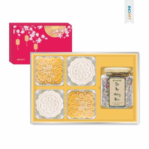 Set 2 Bánh Trung Thu Kèm Trà Hoa Dưỡng Nhan