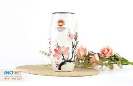 Cung cấp lọ hoa gốm sứ quà tặng, lọ hoa pha lê, thủy tinh quà tặng in logo tại quận Tân Bình tphcm